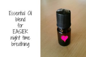 Essential oil night time blend for easier breathing